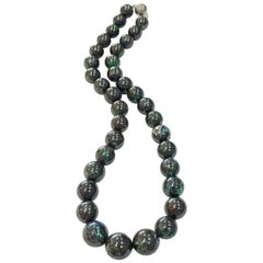 One of a Kind Boulder Opal Bead Necklace