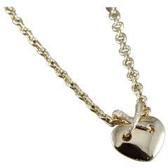Chaumet Paris Liens Diamond Gold Heart Pendant Necklace