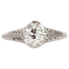 1.24 Carat Diamond Platinum Engagement Ring