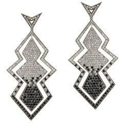 Deborah Pagani Diamond and White Gold Drop Earrings