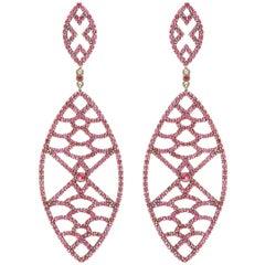 Deborah Pagani Ruby and Gold Earrings