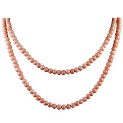 Antique Victorian Double Coral Necklace, circa 1900