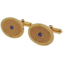 Tiffany & Co. Montana Sapphire Gold Cufflinks