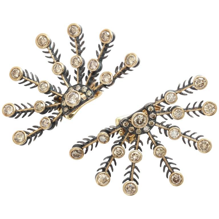 Marilyn Cooperman Snowflake Diamond Earrings
