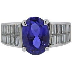 Diamond 4.75 Carat Tanzanite Gold Ring