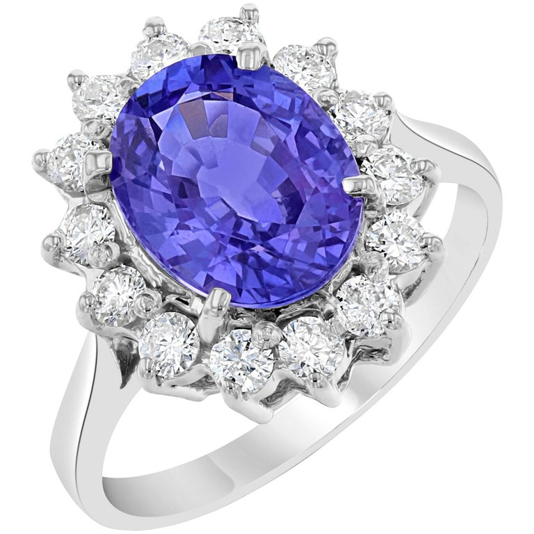 Tanzanite Diamond Ring For Sale