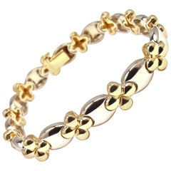 Van Cleef & Arpels Link Yellow and White Gold Bracelet