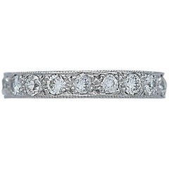 Vintage Eternity Band 2.00 Carat Total Weight Diamond Platinum