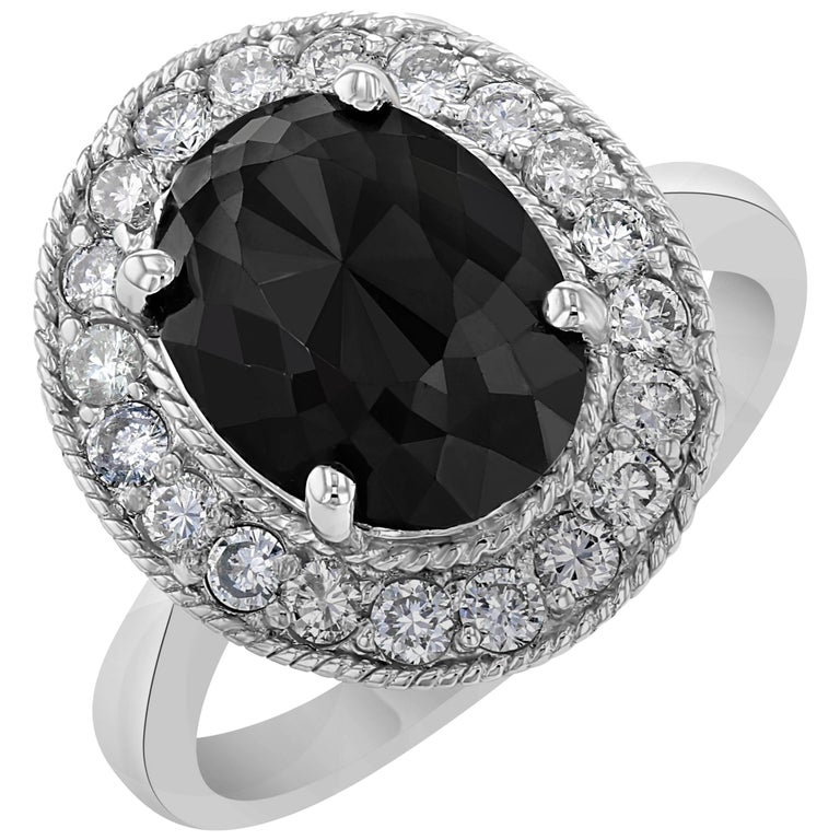 Black Diamond Cocktail Ring For Sale at 1stdibs