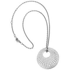 Piaget Limelight Twice Diamond Black Onyx Drop White Gold Pendant Necklace