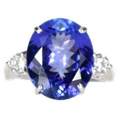 9 Carat Tanzanite and Diamond Ring