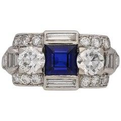 Tiffany & Co. Art Deco Sapphire Diamond Ring