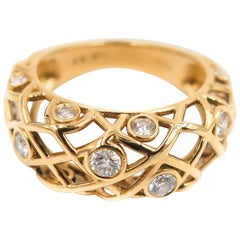 Hearts on Fire Diamond Yellow Gold Band