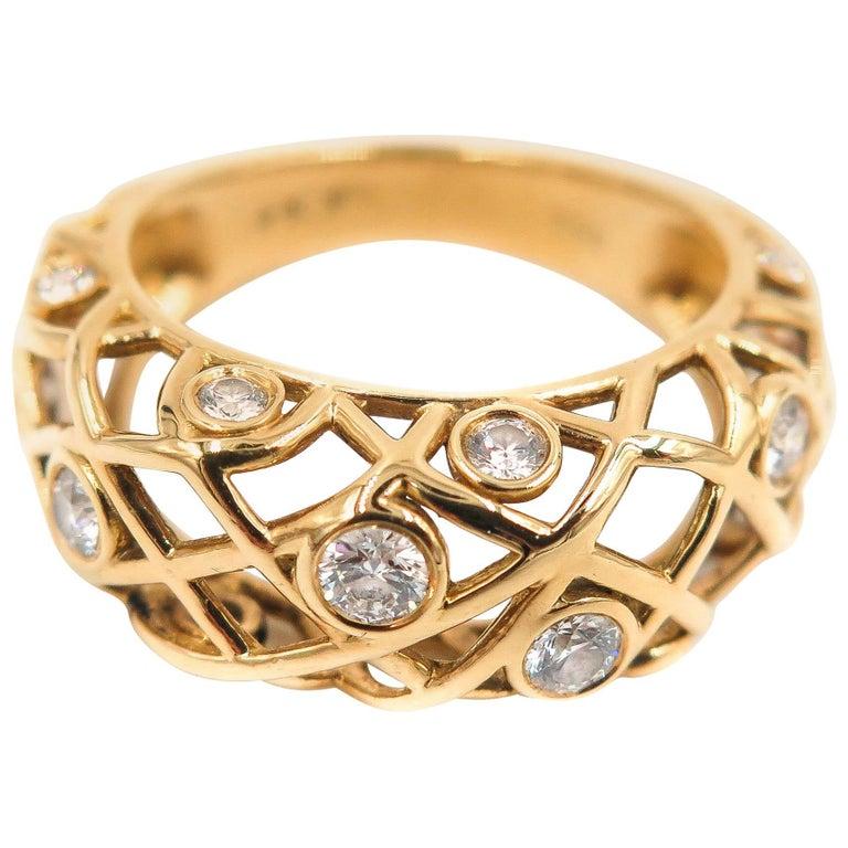 Hearts on Fire Diamond Yellow Gold Band