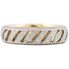18 Karat Two-Tone Diamond Eternity Band