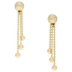 Cartier Nouvelle Vague Golden Pearls and Diamonds Earrings