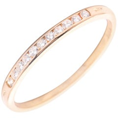 Tiffany & Co. Diamond Wedding Band in 18 Karat Yellow Gold