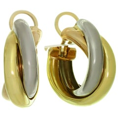 Cartier Trinity Tri-Gold Large Model Wrap Earrings
