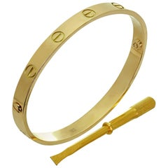 Cartier Love Yellow Gold Bracelet Sz.18