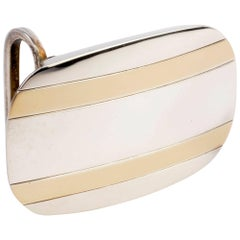 Tiffany & Co. Silver and Gold Belt Buckle