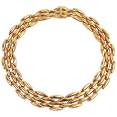 Cartier Navette Link Gold Necklace