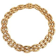 Cartier Navette Link Gold Necklace