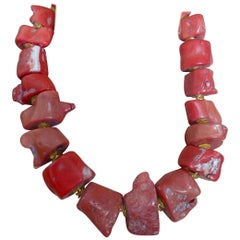 Michael Kneebone Nugget Branch Coral Necklace