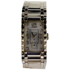 Hamilton White Gold Art Deco Manual Bracelet Watch, 1940's