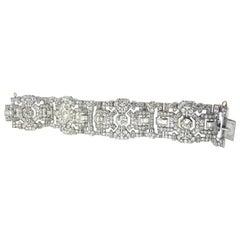 Art Deco Diamond Platinum French Bracelet