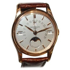 Patek Philippe Rose Gold Retrograde Perpetual Calendar Wristwatch Ref 5050R