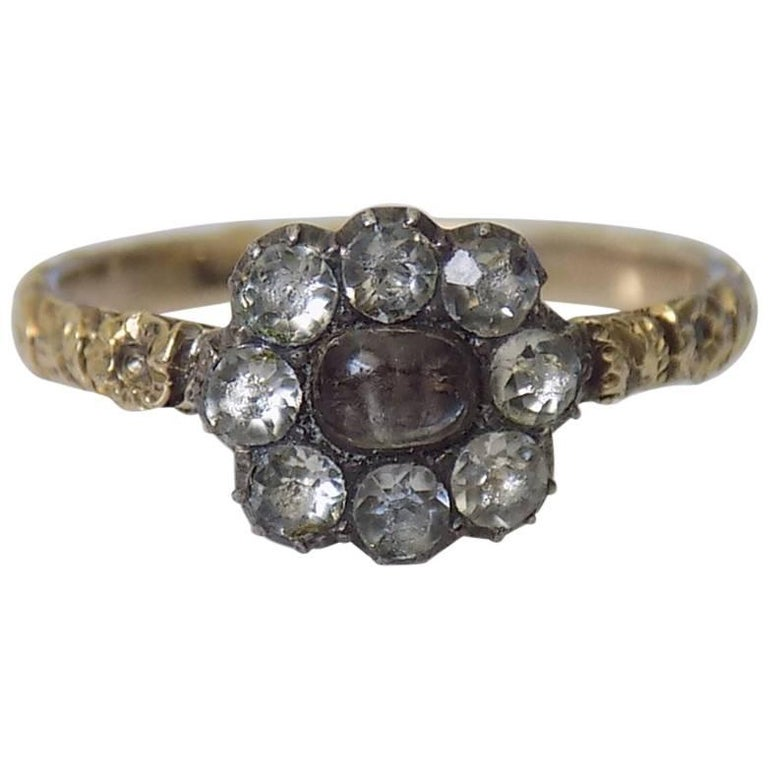 antique georgian paste gold mourning ring for sale at 1stdibs