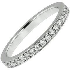 18 Karat White Gold 1.20 Carat Diamond Eternity Band Ring