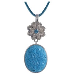 Emma Chapman Turquoise Blue Topaz Pendant
