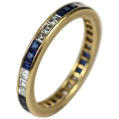 Oscar Heyman Brothers Sapphire Diamond Eternity Ring