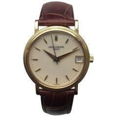 Patek Philippe Yellow Gold Enamel Dial Calatrava Automatic Wristwatch