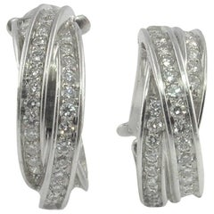 Diamond Cartier White Gold Trinity Earrings