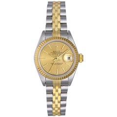 Rolex Ladies Yellow Gold Stainless Steel President Automatic Wristwatch Ref 6917