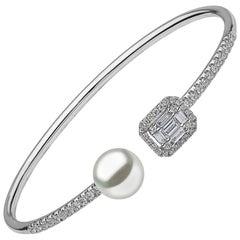 Yoko London White Gold with South Sea Pearls and White Diamonds Bracelet