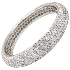 24.29 Carat Pave Diamond Bangle Bracelet