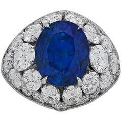 10.30 Carat Untreated Burma Sapphire Diamond Ring