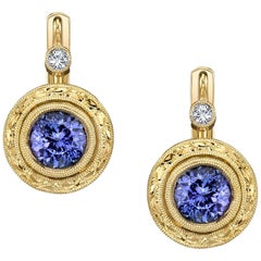 Tanzanite 18k Yellow Gold Earrings