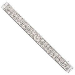 1920s Art Deco 2.78 Carat Diamond, Platinum and 14K Gold Bar Pin