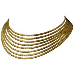 Multistrand 18 Karat Yellow Gold Necklace