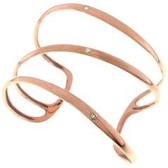 Gavello Rose Gold Diamond Cuff Bracelet