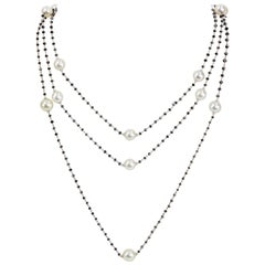 South Sea Pearls and Diamonds Gold Necklace