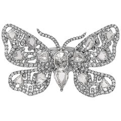 Emilio Jewelry Approx 6.25 Carat Rose Cut Butterfly Diamond Ring
