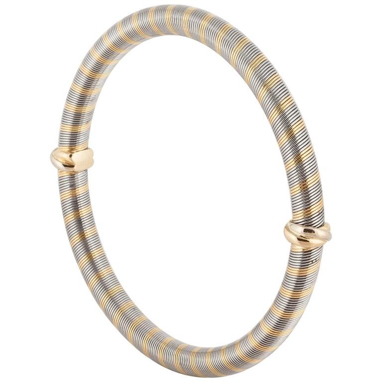 Cartier 18 Karat Two-Tone Gold Bangle