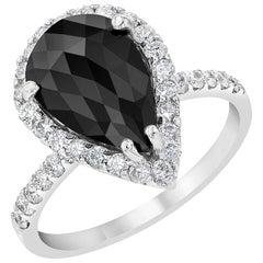 2.53 Carat Black Diamond Engagement Ring