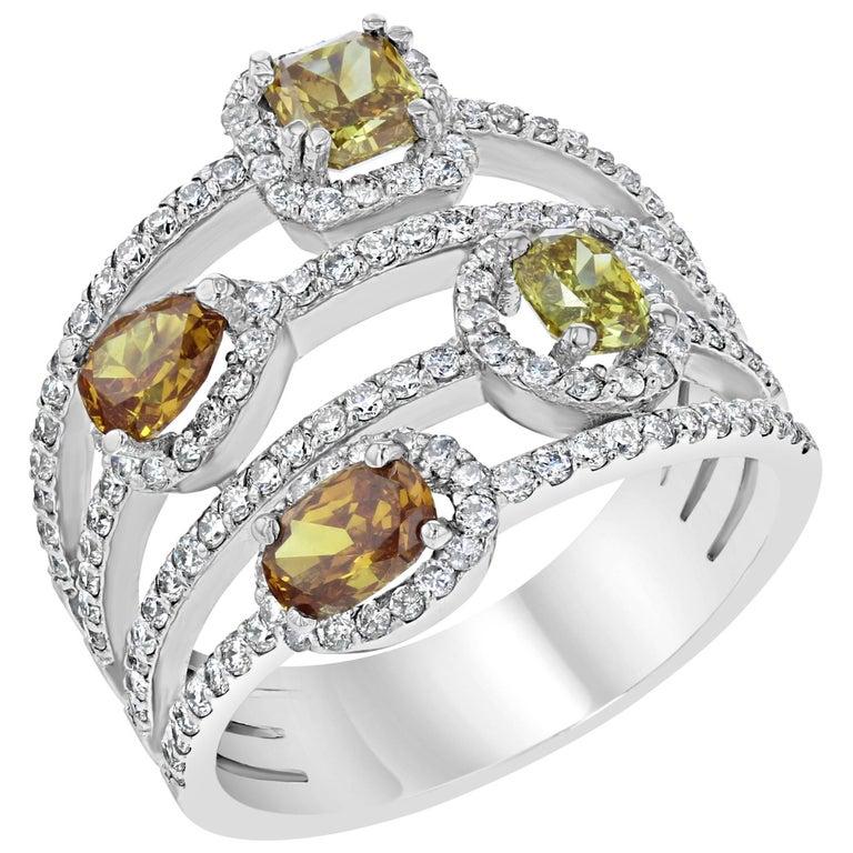 2.38 Carat Natural Fancy Diamond Cocktail Ring