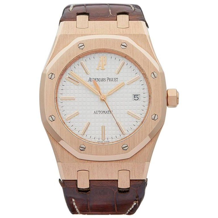 Audemars Piguet Rose Gold Royal Oak Automatic Wristwatch Ref W3442
